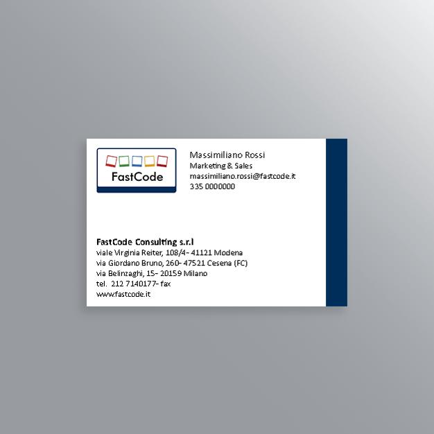 Biglietti da visita Fastcode Consulting-AM Design