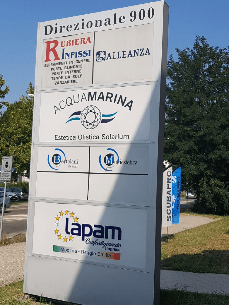 Stampa esterna logo Acquamarina Rubiera-AM-Design