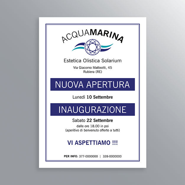 Volantino Acquamarina Rubiera-AM Design