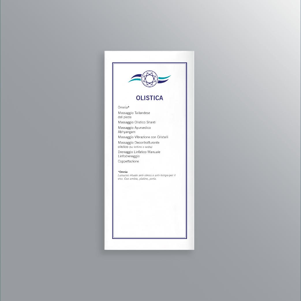 Volantino interno-Pieghevole 3 ante Acquamarina Rubiera-AM Design