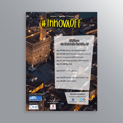 Volantino evento InnovaOff SILFI Firenze Smart City-AM Design